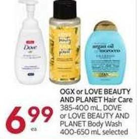 Ogx or Love Beauty And Planet Hair Care