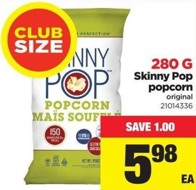 Skinny Pop Popcorn Original - 250 G