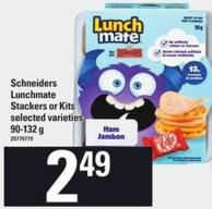 Schneiders Lunchmate Stackers Or Kits - 90-132 g