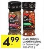 Club House La Grille Spices or Seasonings 120-203 g