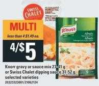 Knorr Gravy Or Sauce Mix 27-41 G Or Swiss Chalet Dipping Sauce 31-52 G