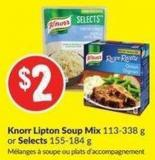 Knorr Lipton Soup Mix 113-338 g or Selects 155-184 g