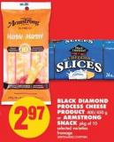 Black Diamond Process Cheese Product - 400/450 g or Armstrong Snack - Pkg of 10