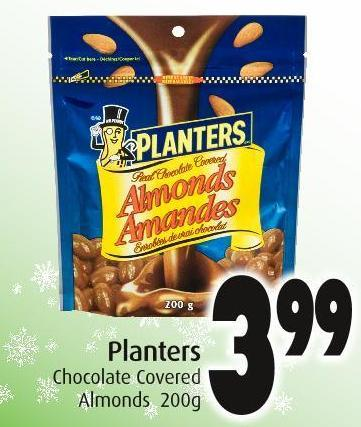 Planters Chocolate Covered Almonds 200g