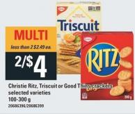 Christie Ritz - Triscuit Or Good Thins Crackers - 100-300 G
