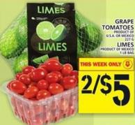 Grape Tomatoes Or Limes