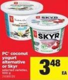 PC Coconut Yogurt Alternative Or Skyr - 500 g