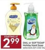 Dial or Softsoap Holiday Hand Soap