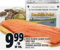 Fresh Atlantic Salmon Fillets Family Pack Or Standard Malpeque Oysters