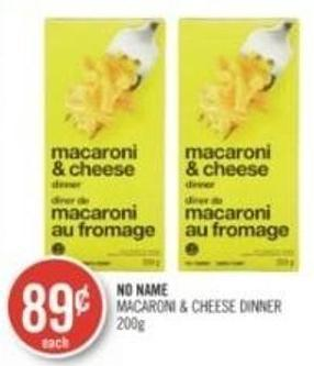 No Name Macaroni & Cheese Dinner 200g