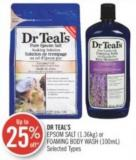 Dr Teal's Epsom Salt (1.36kg) or Foaming Body Wash (100ml)
