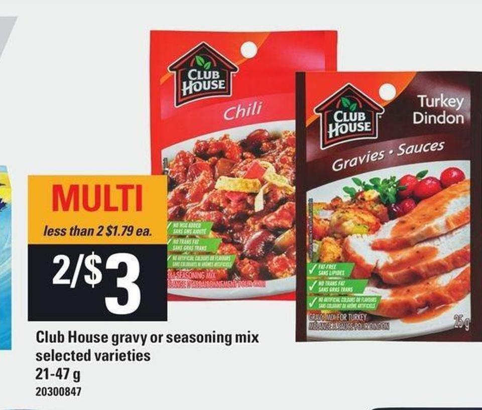 Club House Gravy Or Seasoning Mix - 21-47 g