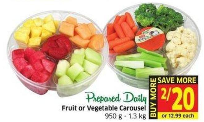 Fruit or Vegetable Carousel 950 g - 1.3 Kg