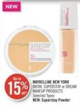 Maybelline New York Brow - Superstay or Dream Makeup Products