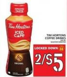 Tim Hortons Coffee Drinks - 340 mL