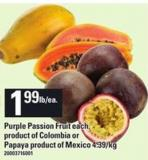 Purple Passion Fruit - Each Or Papaya