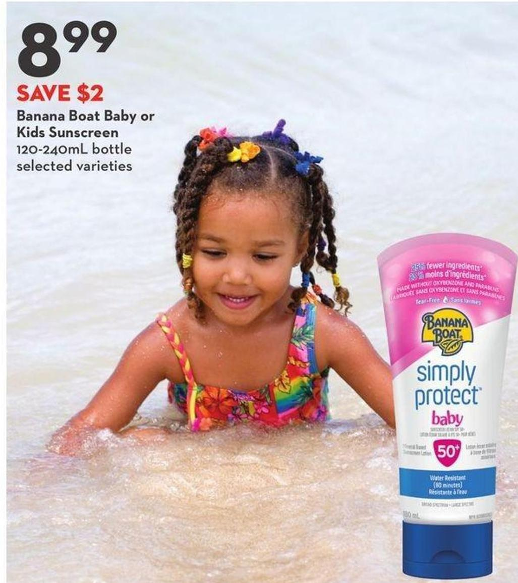 Banana Boat Baby or Kids Sunscreen