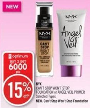 Can't Stop Won't Stop Foundation or Angel Veil Primer