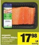 Organic Salmon Fillets