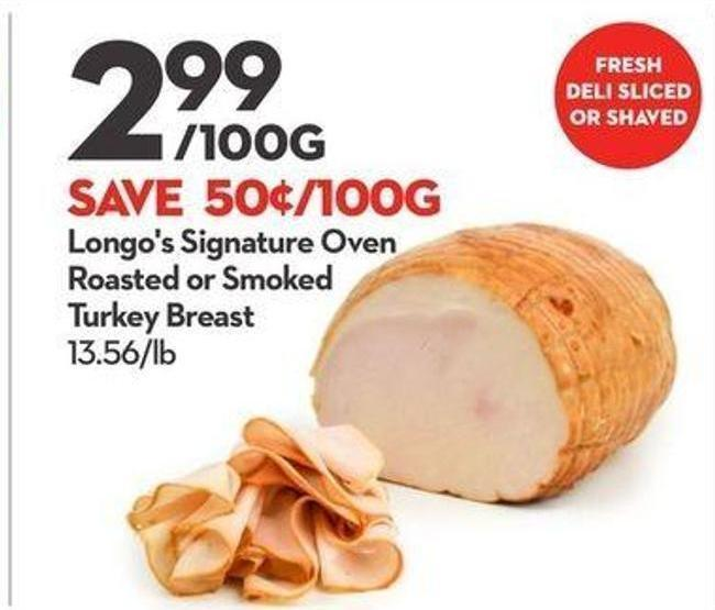 Longo's Signature Oven Roasted or Smoked Turkey Breast