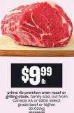 Prime Rib Premium Oven Roast Or Grilling Steak
