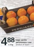 Large Vanilla Persimmons Case - 1.5 Kg