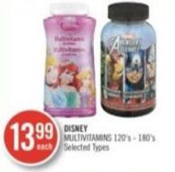 Disney Multivitamins 120's-180's