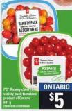 PC Axiany Cherry Or Variety Pack Tomatoes - 681 g