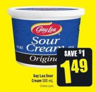 Gay Lea Sour Cream 500 mL