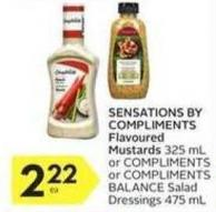 Sensations By Compliments Flavoured Mustards