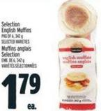 Selection English Muffins Pkg Of 6 - 342 g