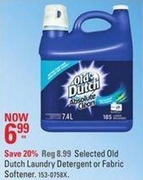 Dutch Laundry Detergent or Fabric Softener