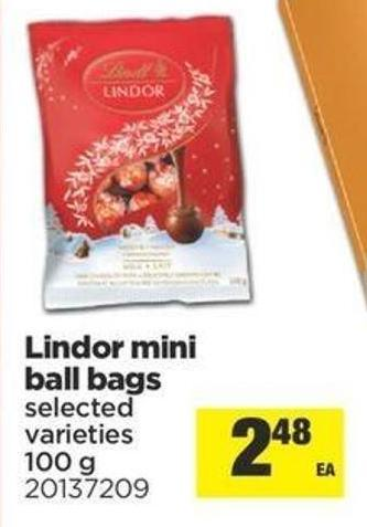 Lindor Mini Ball Bags - 100 g