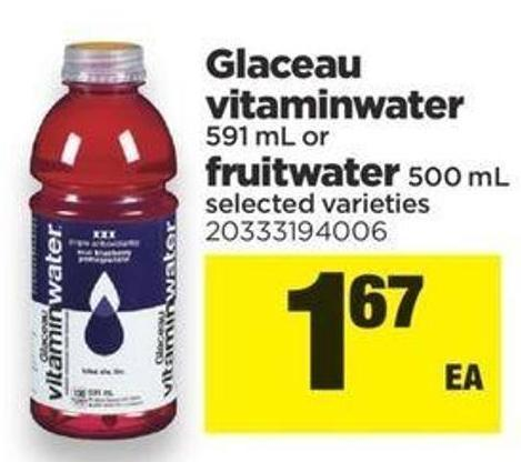 Glaceau Vitaminwater - 591 Ml Or Fruitwater 500 Ml