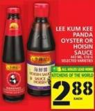 Lee Kum Kee Panda Oyster Or Hoisin Sauce