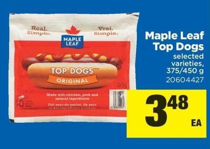 Maple Leaf Top Dogs - 375-450 G