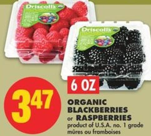 Organic Blackberries Or Raspberries - 6 Oz