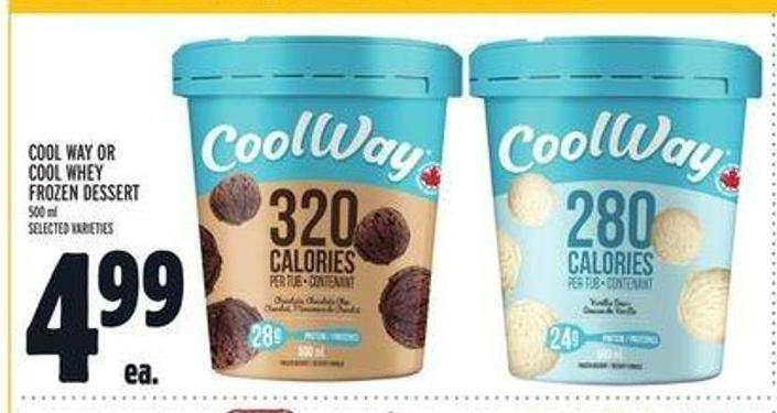 Cool Way Or Cool Whey Frozen Dessert