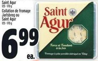 Jarlsberg Cheese Snack Or Saint Agur