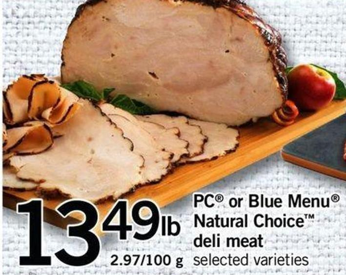PC Or Blue Menu Natural Choice Deli Meat - 2.97/100 G