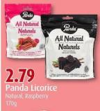 Panda Licorice Natural - Raspberry 170g