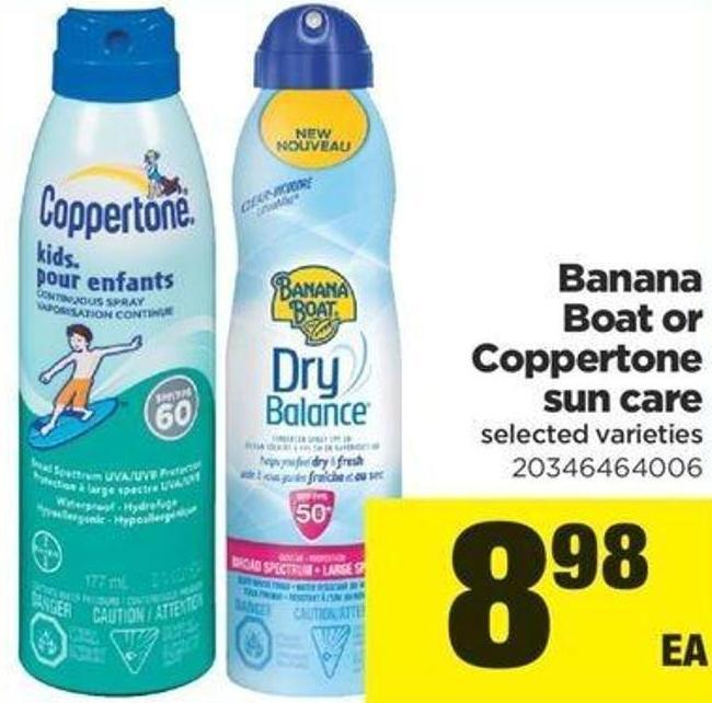 Banana Boat Or Coppertone Sun Care