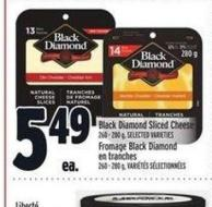 Black Diamond Sliced Cheese