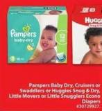 Pampers Baby Dry Cruisers or Swaddlers