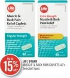 Life Brand Muscle & Back Pain Caplets 40's
