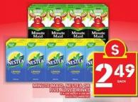 Minute Maid - Nestea Or Five Alive Drinks