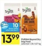 Purina Beyond Dry Dog Food Selected 1.36-1.67 Kg 10 Air Miles Bonus Miles