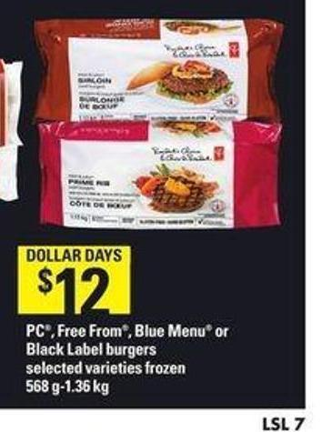 PC - Free From - Blue Menu Or Black Label Burgers - 568 G-1.36 Kg