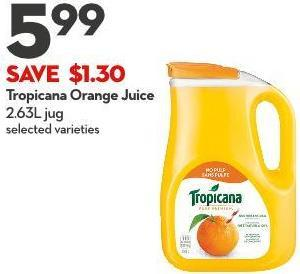 Tropicana Orange Juice 2.63l Jug