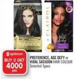 Preference - Age Defy or Vidal Sassoon Hair Colour